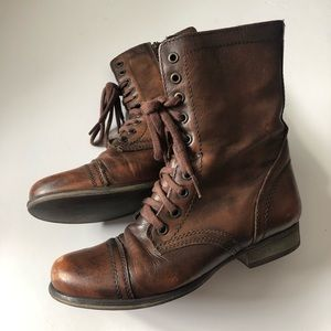 Steve Madden Brown Leather Boots! SZ 7.5!
